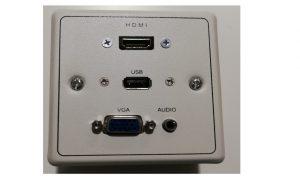 Caja conexiones vga hdmi usb audio