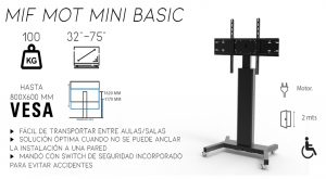 MIF MOT MINI BASIC dimasa,soporte,monitor,ruelas,electrico