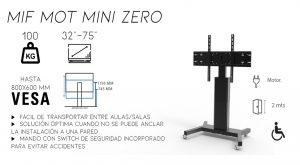 MIF MOT MINI ZERO dimasa,soporte,monitor,ruelas,electrico