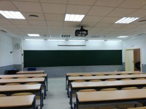 Pizarra verde universidad