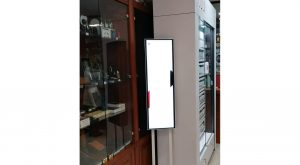 Monitor Samsung SH37F instalado pantalla 110 pulgadas
