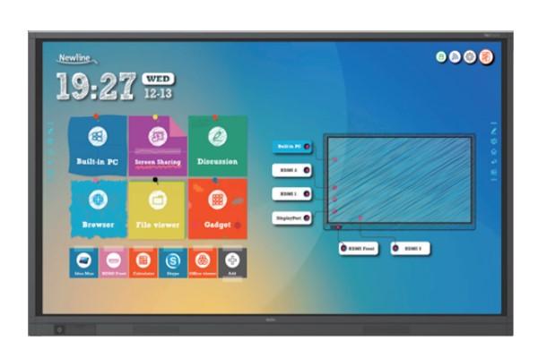 monitor,interactivo,tactil,new line,