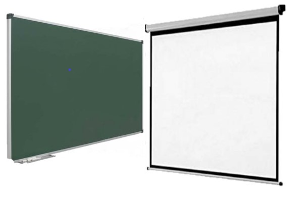 pantalla desenrrollable, pizarra verde,pizarra blanca,