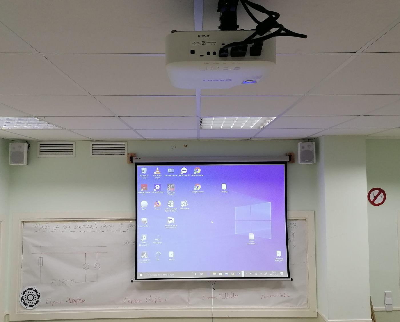 instalacion proyector casio