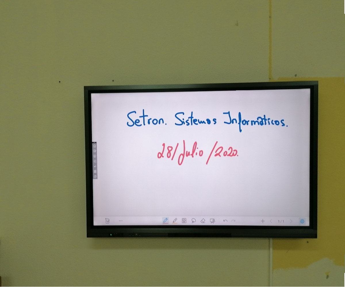 instalacion monitor interactivo newline atlas