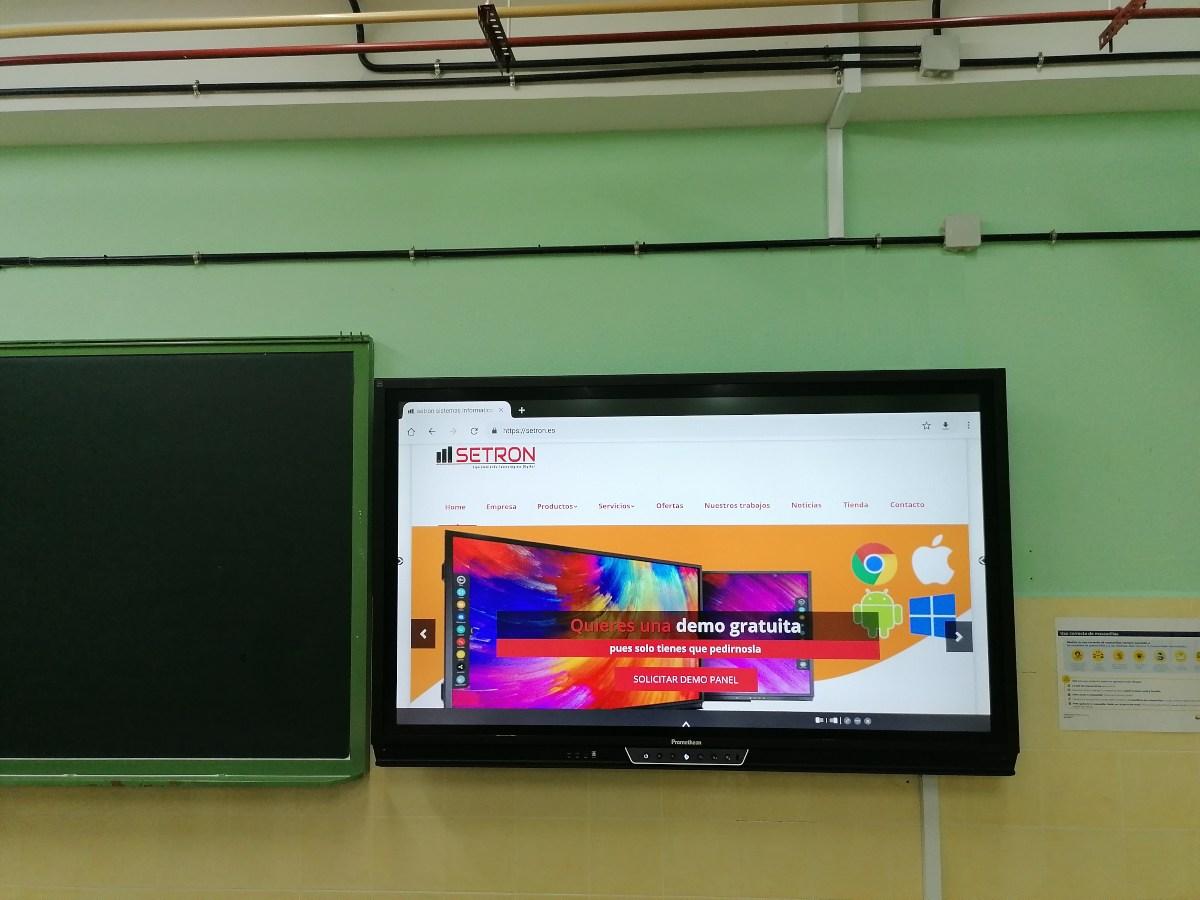 instalacion monitor interactivo promethean Titanio