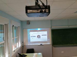 instalacion de proyector a techo