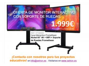 oferta moniotr interactivo promethean