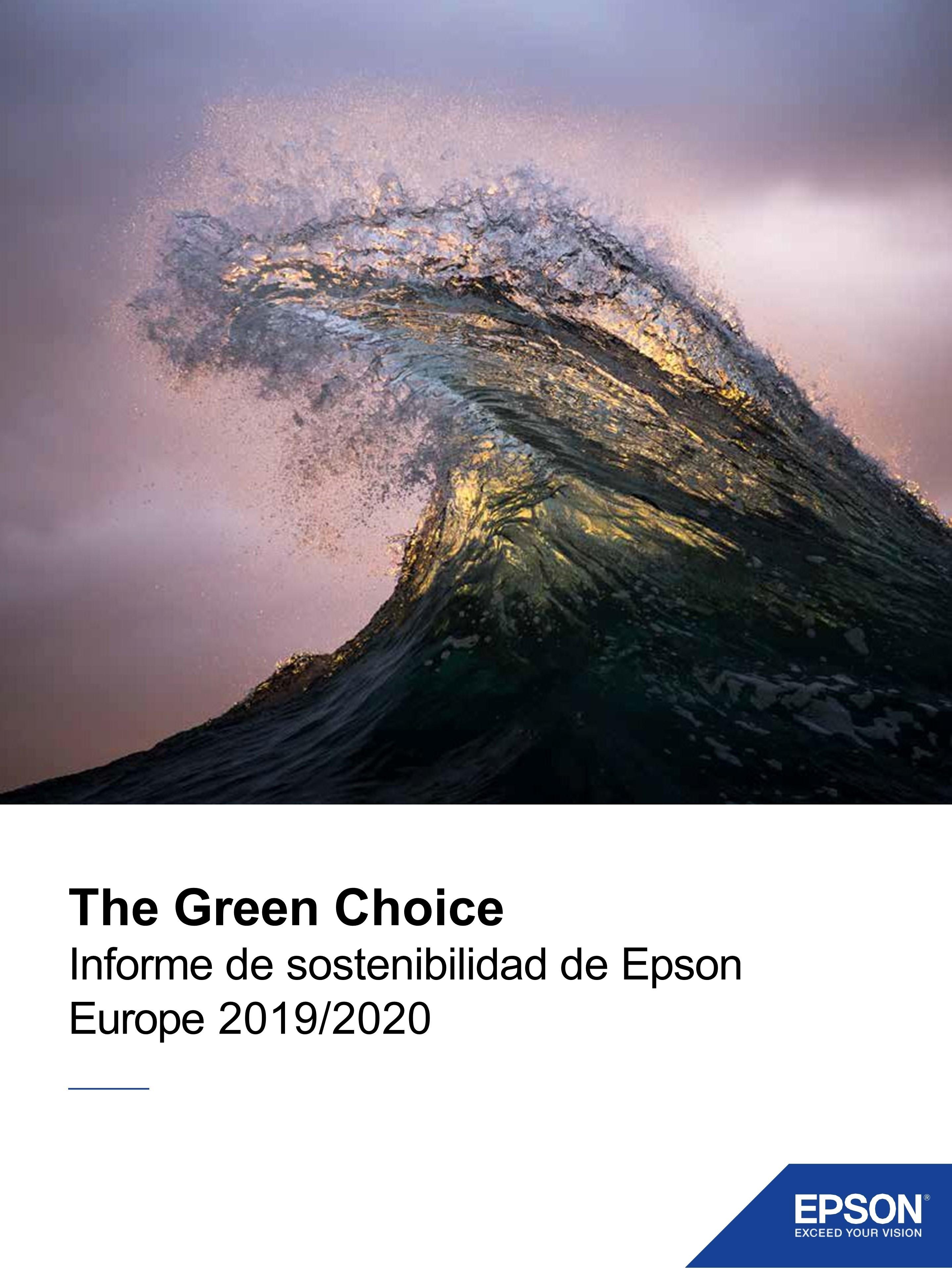 Informe sostenibilidad epson