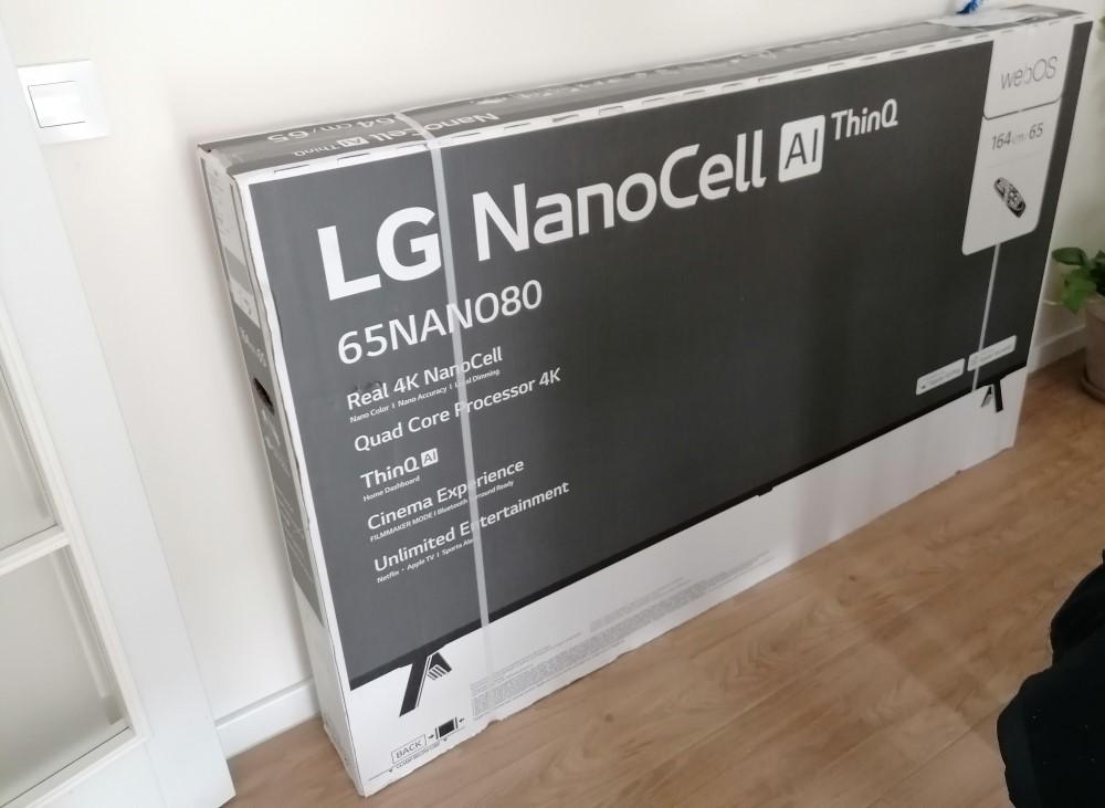 Instalación de televisor LG nanocell 65 pulgadas