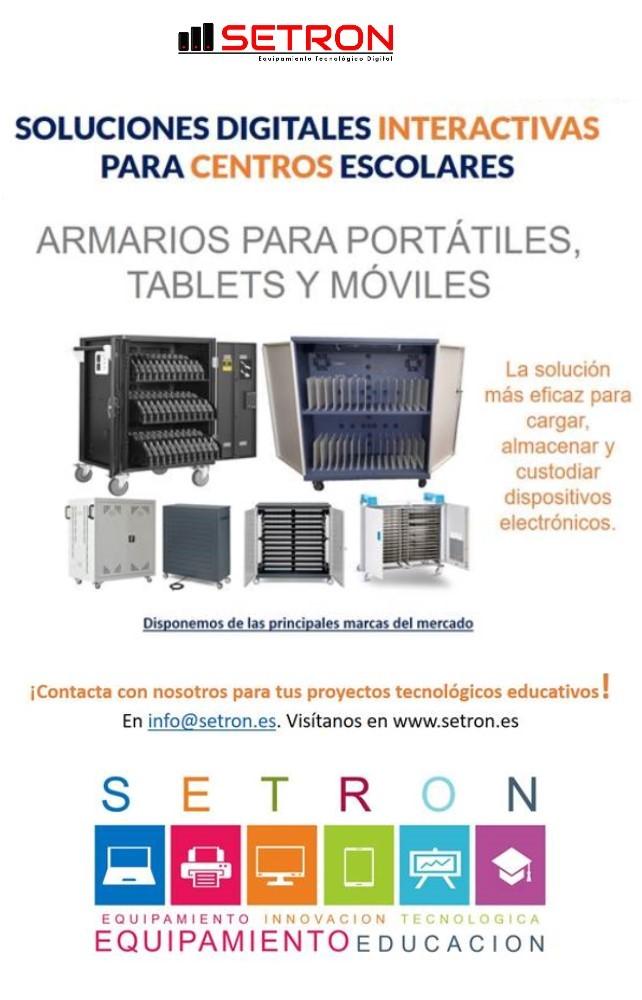 Carros de carga portatiles y tablets