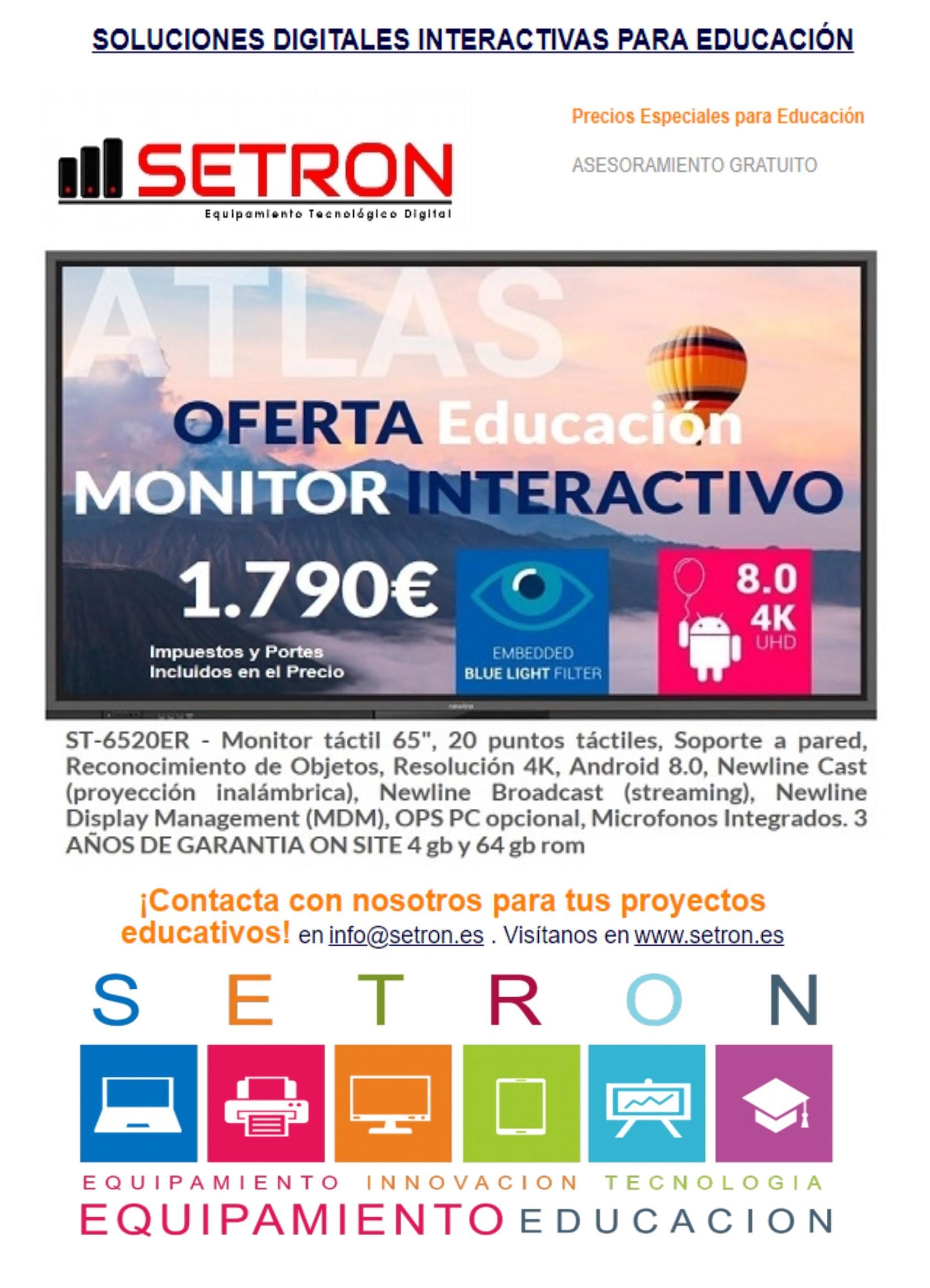 Oferta monitor interactivo Newline