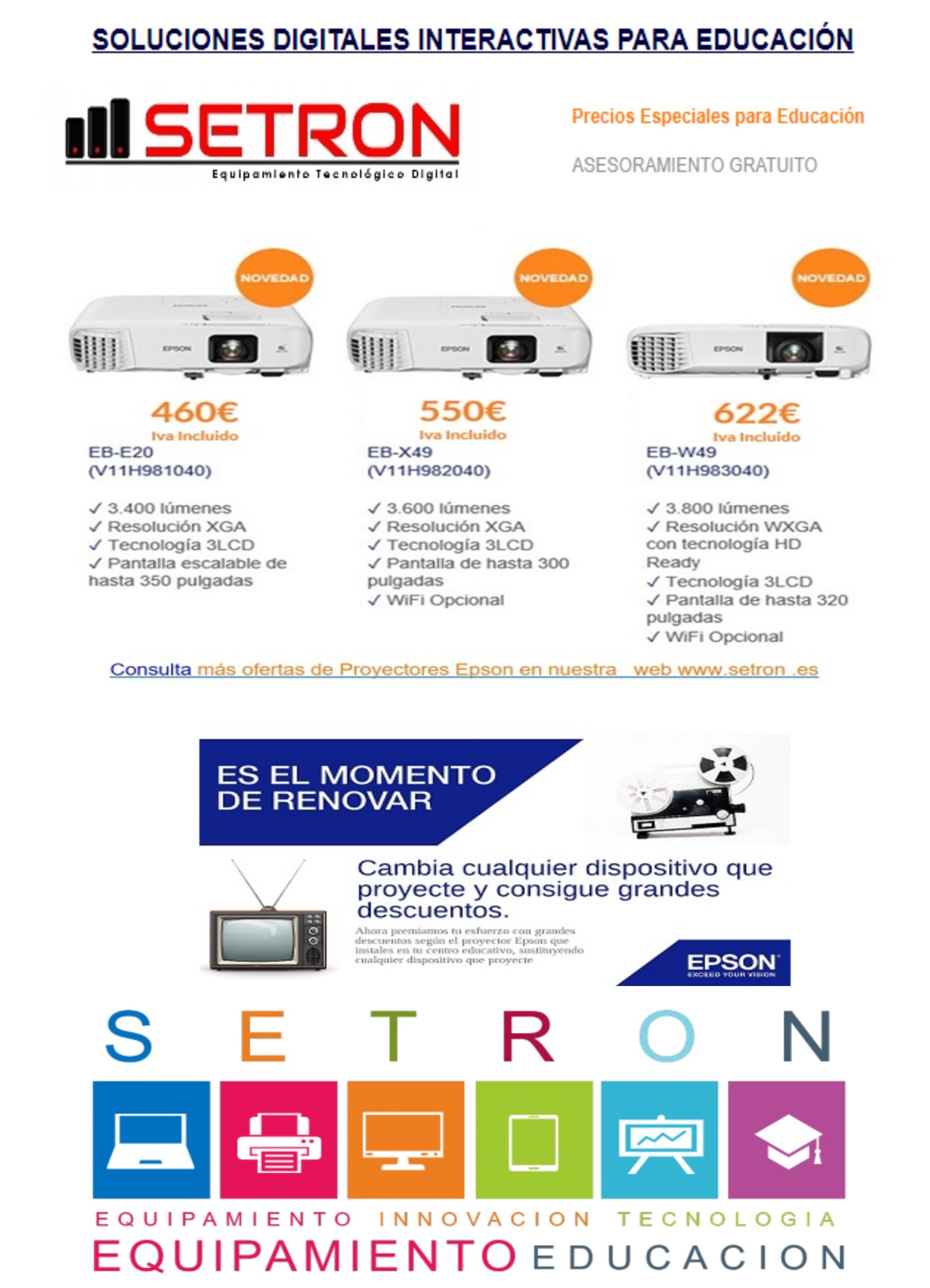 Oferta proyectores Epson