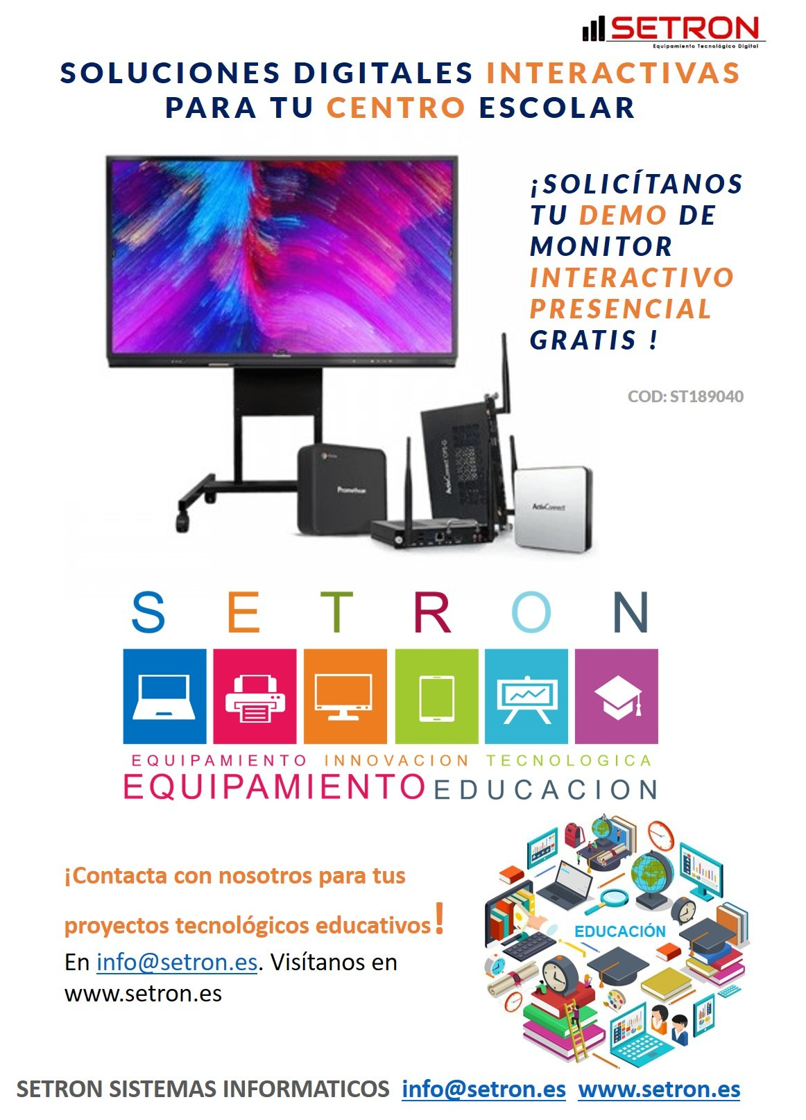 Demo monitor interactivo Promethean