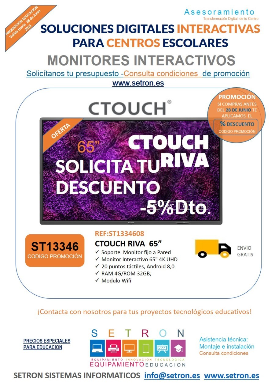 Descuento monitor Ctouch
