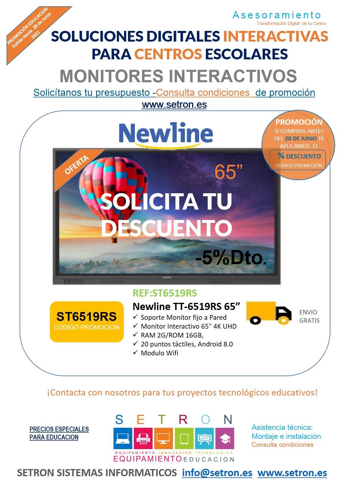 Descuento monitor Newline