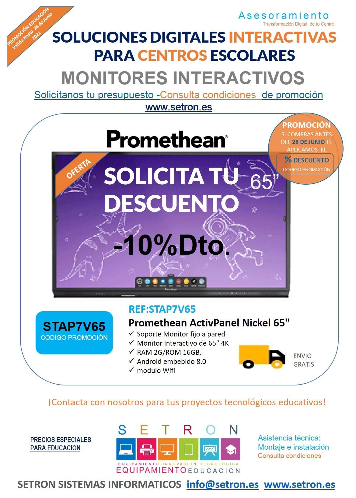 Descuento monitor Promethean
